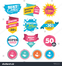 sale banners online web shopping handshake stock vector 623899433
