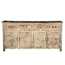 furniture narrow buffet table wooden hutch distressed sideboard