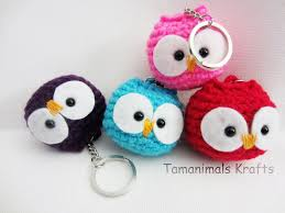 crochet owl ornament key chain tutorial