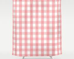 Large Shower Curtains Pink Shower Curtain Etsy