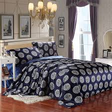 the dragon and the phoenix navy blue silk duvet cover set silk bedding