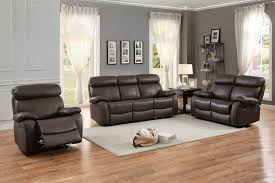 Genuine Leather Living Room Sets Homelegance 8326brw Pendu Reclining Leather Living Room Set In Brown