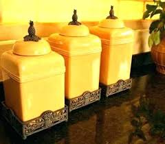 yellow kitchen canisters yellow kitchen storage jars familijna info