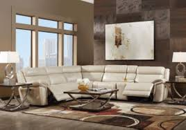 Rooms To Go Living Rooms - martino beige 6 pc leather power reclining sectional reclining