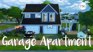 the sims 4 garage apartment cc speed build youtube