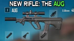 pubg new rifle the aug a3 all attachments youtube