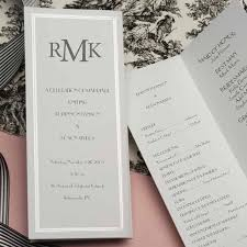simple wedding ceremony program tri fold pearl border imprintable program folders set of 50