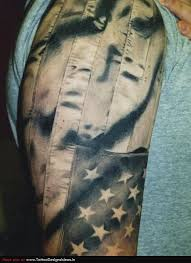 22 black and white flag tattoo