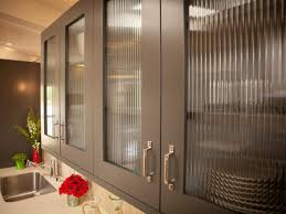 Kitchen Cabinet With Glass Doors The Glass Doors On These Gray Kitchen Cabinets Lend A Modern Feel