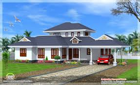 nice kerala style sloping roof home exterior house design plans