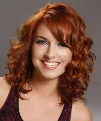 curly side fringe hairstyles women medium haircut