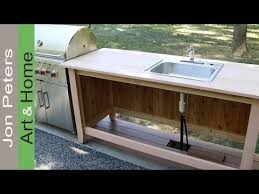 outdoor kitchen furniture build an outdoor kitchen cabinet countertop with sink