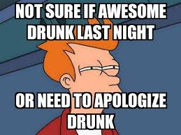 Meme Not Sure If - not sure if fry not sure if awesome drunk last night or need to