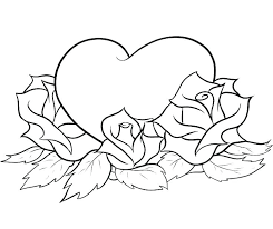 coloring pages with roses coloring pages hearts and roses yuga me