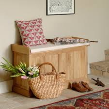 Cushion Top Storage Bench by Mudroom Solid American Poplar Entryway Benches Simple Storag