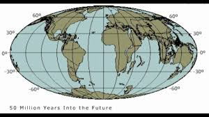 Map Of Tectonic Plates Future Plate Tectonics 100 Million Years Youtube