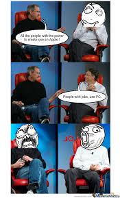 Steve Jobs Meme - steve jobs bill gates meme 28 images steve jobs vs bill gates