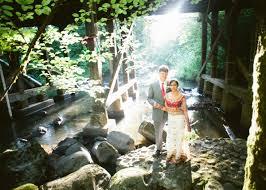 suji chris portland wedding at leach botanical garden Leach Botanical Garden