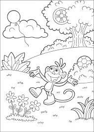 kids fun 84 coloring pages dora explorer