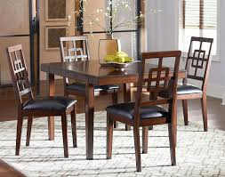 standard furniture ally 5 piece dining table set with lattice back