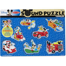 mickey mouse and friends vehicles wooden sound puzzle walmart com