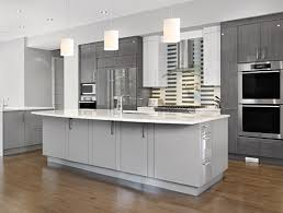 minimalist tan grey kitchen cabinet paint color silver setting