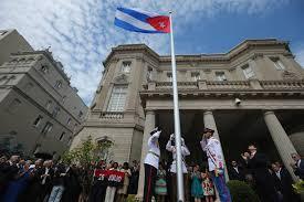 Flag Hoist Signaling New Era In Ties Begins As Cuba Raises Flag At Embassy In U S