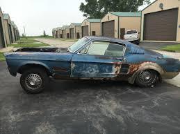 1967 Mustang Black 1967 Mustang Fastback 289 Manual Trans Originally A Raven Black