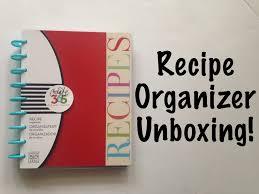 the happy planner recipe organizer unboxing u0026 walk through youtube