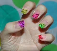 colorfull zebra nails cute nails pinterest zebra nails