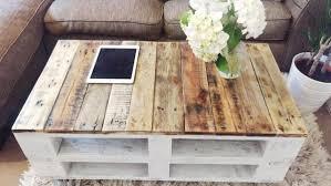 white farmhouse coffee table pallet coffee table lemmik farmhouse style reclaimed upcycled