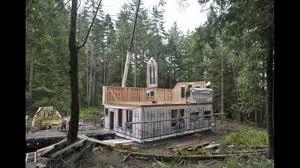 set up prefab house on bowen island www a z carpentry ca vancouver