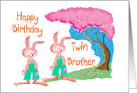 birthday cards for twin brother from greeting card universe