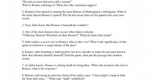 romeo and juliet quote test quiz amp worksheet romeo and juliet