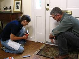 How To Fix Swollen Laminate Flooring How To Weatherproof Doors How Tos Diy
