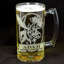 etched glass vase personalized personalized moose beer stein etched glass gifts for groomsmen