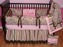 Pink Brown Crib Bedding Bedroom Design Brown Flowers Crib Bumper Design Cheap Crib