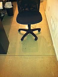 glass office chair mats bonding