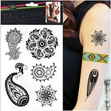 2015 new beautiful women u0027s art tattoos 1pcs lot black temporary