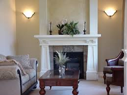 fireplace fireplace with fireplace mantels and wall sconce also