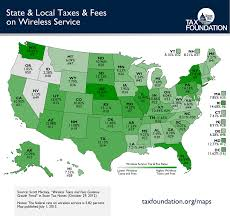 What State Is Washington Dc In Map by Monday Map State U0026 Local Taxes U0026 Fees On Wireless Service Tax