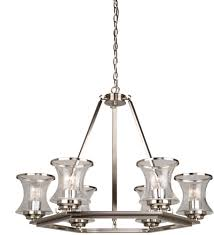 Brushed Nickel Chandeliers Artcraft Ac10236bn Dorsett Contemporary Brushed Nickel Chandelier