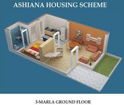 ashiana housing 2 u0026 3 marla houses u2013 layout plans or drawing maps