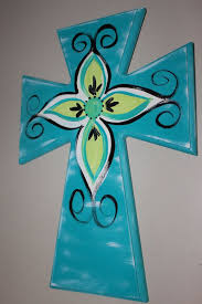 decorative crosses for wall painted wooden crosses craft ideas images crosses