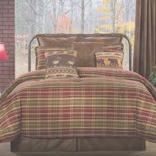 Plaid Bed Sets Bedroom Furniture Montana Morning Rustic Plaid Comforter Bedding
