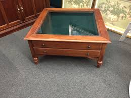 Ethan Allen Coffee Table Glass 3d Map Display Coffee Table Glass Tables Neil Mcpher Thippo