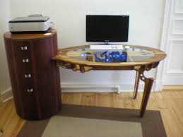 Desk Computer Case by Amazing Custom Oak Computer Desk With Mahogany Finish The Desk Is