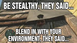 Assassins Creed 4 Memes - assassin s creed iv black flag edward the stealth ninja glitch