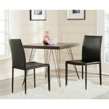 safavieh karna black bonded leather dining chair set of 2