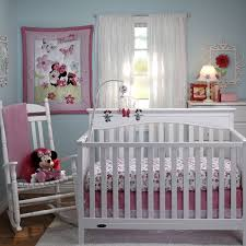bedroom cute minnie mouse theme in baby girl room with white crib amazing rocking chair for baby nursery ideas for the comfort of the mother and the child